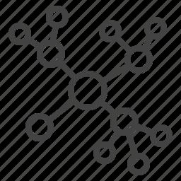 concept map, diagram, networking, scheme icon
