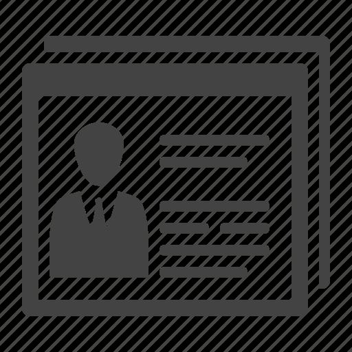 accessibility, cv, profile, user icon