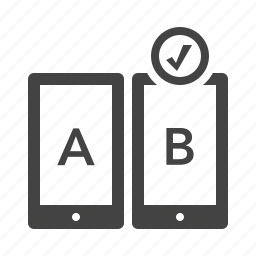 ab testing, compare, feedback, usability icon