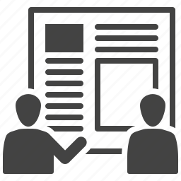 meeting, presentation, teamwork, usability icon
