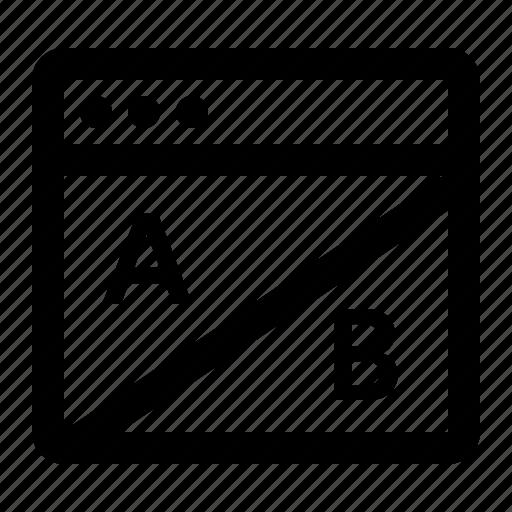 ab, analytics, seo, test, testing icon