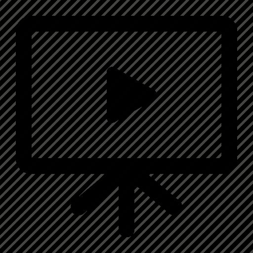 analytics, learning, seo, training, video icon