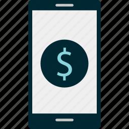 banking, dollar, online icon
