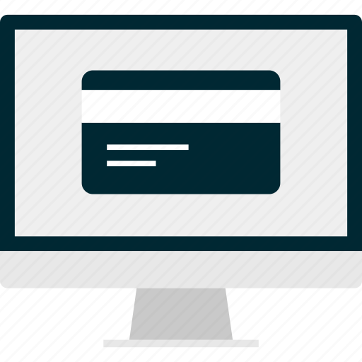 card, credit, monitor icon