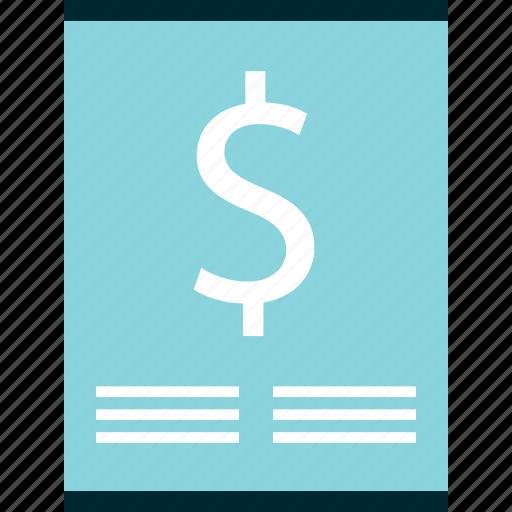 dollar, online, sign icon
