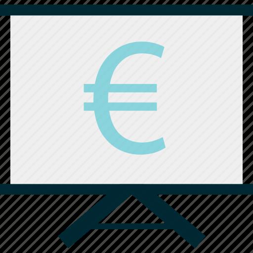 euro, money, sign icon