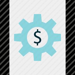 gear, graph, report icon