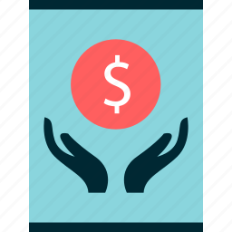 graph, hands, report icon