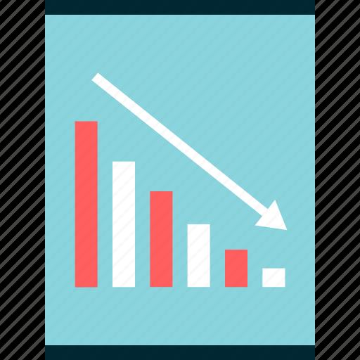 low, revenue, sales icon