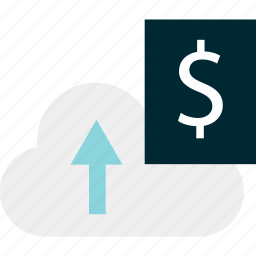 banking, cloud, money, sign icon