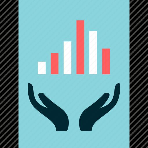 hands, online, report icon