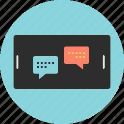 conversation, online, web icon