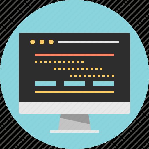 internet, online, screen, web icon