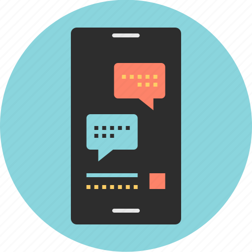 cell, mobile, phone, text icon
