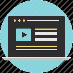 intenet, web, youtuber icon
