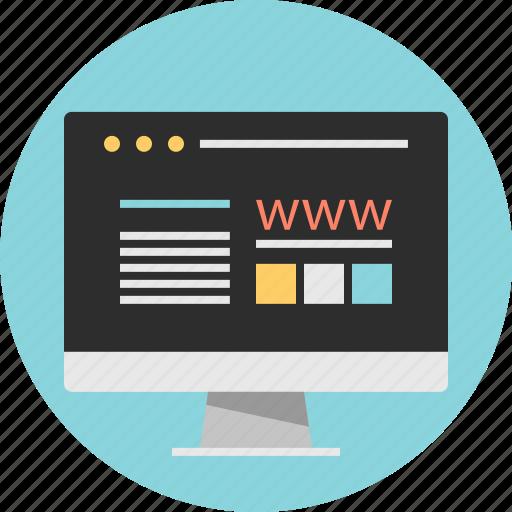 website, wireframe, www icon