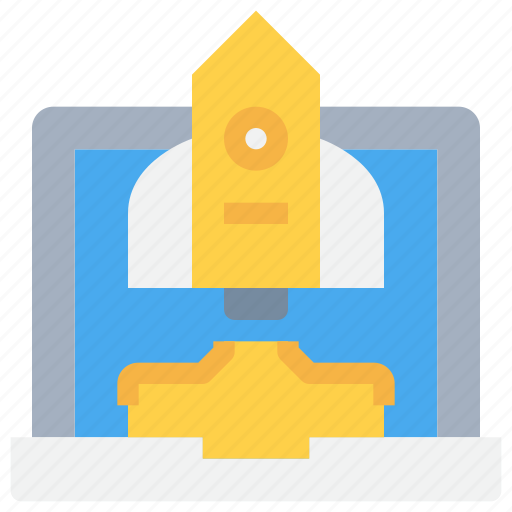 Advertisement, advertising, business, laptop, space, startup icon - Download on Iconfinder