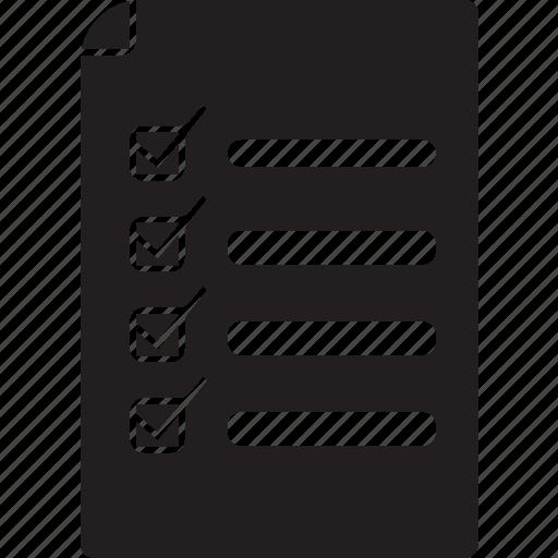 checklist, letter, task icon