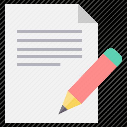 edit, file, pencil, sign, signature, type, write icon
