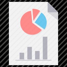 chart, diagram, file, flow, graph, page, paper icon