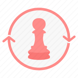 business, chess, game, management, office, soldier, strategy icon
