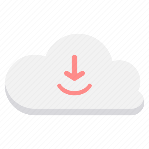 cloud, computing, connection, download, downloading, network icon