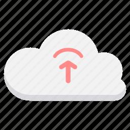 cloud, computing, database, network, server, upload, uploading icon