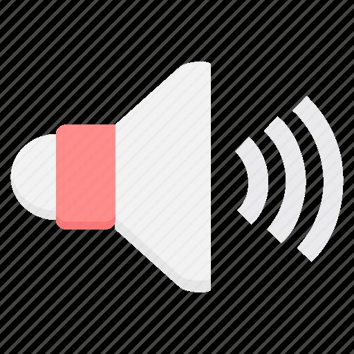 audio, media, sound, speak, speaker, volume icon