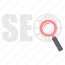 find, optimization, search, seo, web icon
