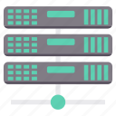 connection, database, hosting, network, server, storage, wireless icon