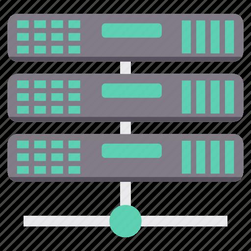 connection, database, hosting, network, server, storage, wireless icon