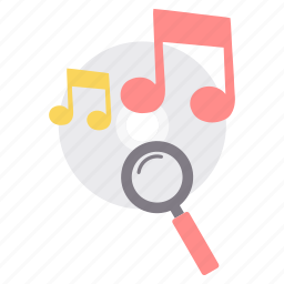 audio, cd, magnifier, music, play, search, song icon