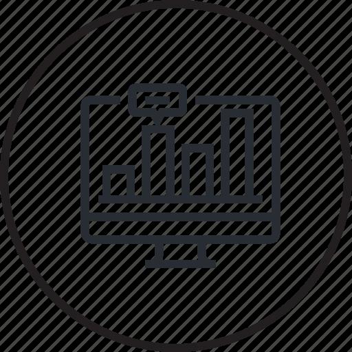 analysis, development, internet, line, seo, website icon