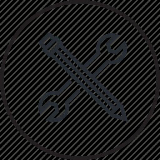 development, line, maintenance, seo, service, setting icon