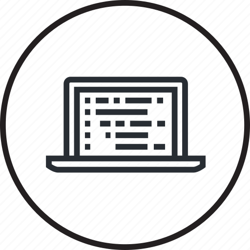 coding, development, line, programming, seo, website icon