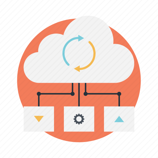 cloud computing, cloud data center, cloud network, cloud server, cloud storage icon
