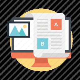 ab testing, load testing, multivariate testing, statistical hypothesis testing, web analytics icon