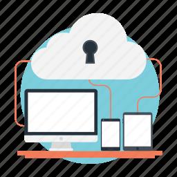 cloud data, cloud networking, cloud storage, enterprise cloud, hybrid cloud icon