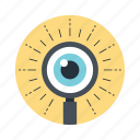 monitoring, observation, view, vision, visualization icon