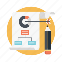 business plan, project chart, project management, project plan icon