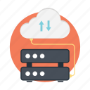 cloud computing, cloud hosting, cloud network, cloud server icon