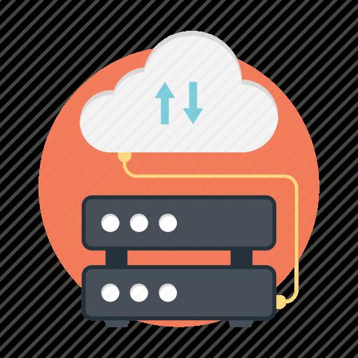 cloud computing, cloud hosting, cloud network, cloud server icon
