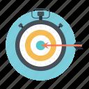 crosshair, dartboard, focus, goal, target icon