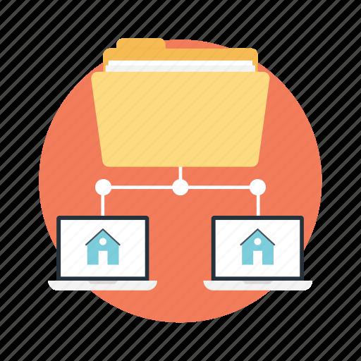 data sharing, file server, folder network, folder sharing, network storage icon