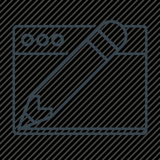 design, development, pencil, web, web design, website icon