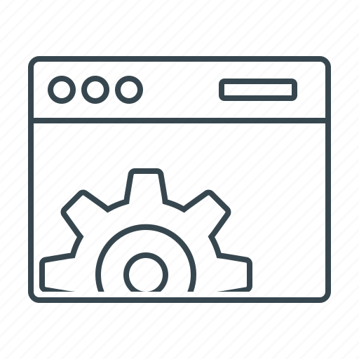 cogwheel, optimization, seo, web, web optimization, web site icon