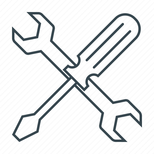 repairs, screwdriver, seo, service, support, tools, wrench icon
