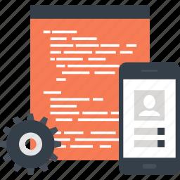 app, application, coding, development, mobile, program, software icon