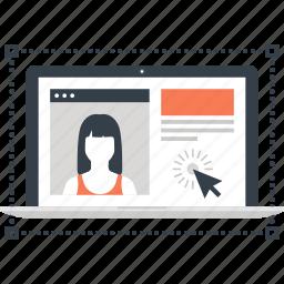 app, application, design, development, laptop, ui, web icon