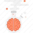 brain, brainstorm, chemistry, lab, laboratory, research, science icon